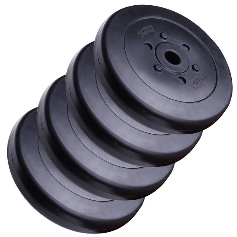 40 kg Hantelscheibenset Kunststoff 30 mm 4x10 kg 2. Wahl
