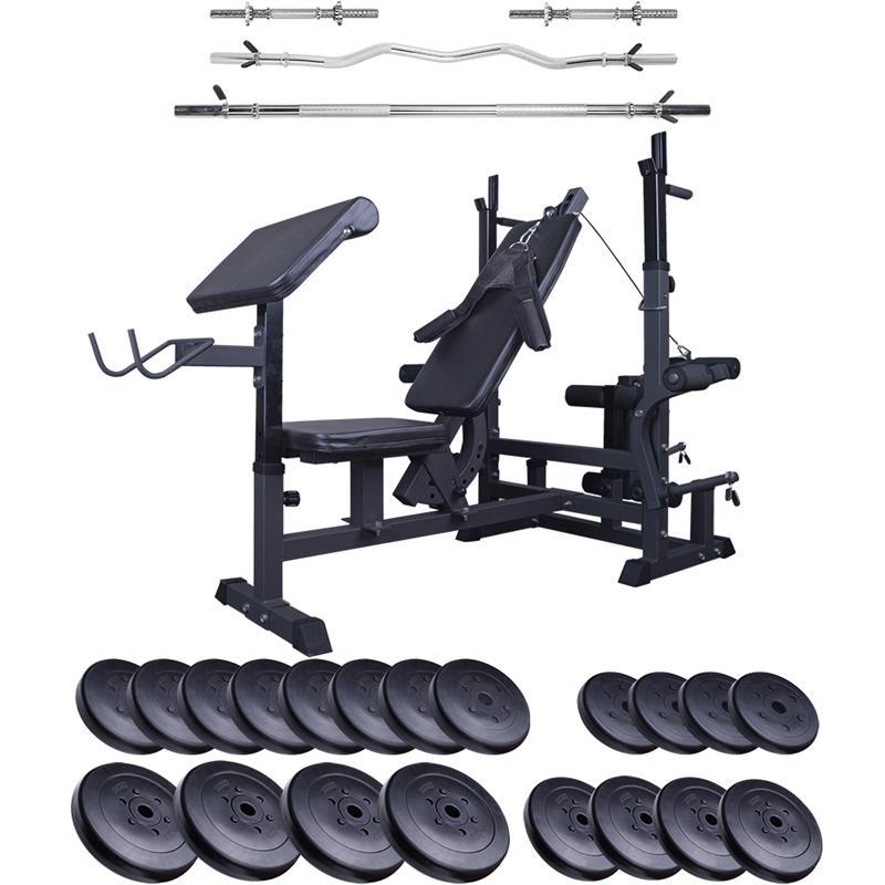 Profi-Trainingsbank mit 120 kg Hantelset OG