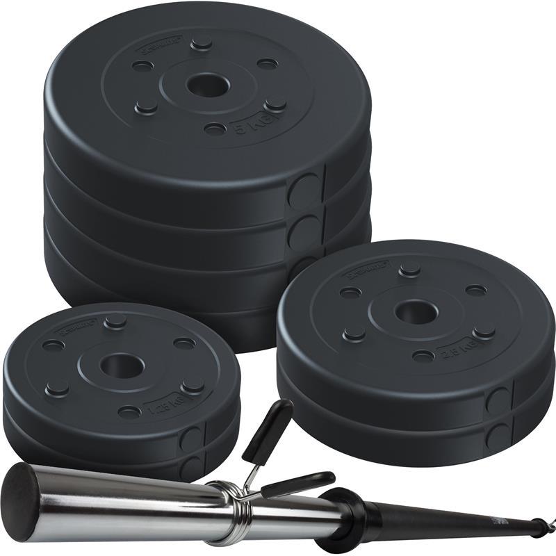30 kg Hohlhantelset Kunststoff 140 cm