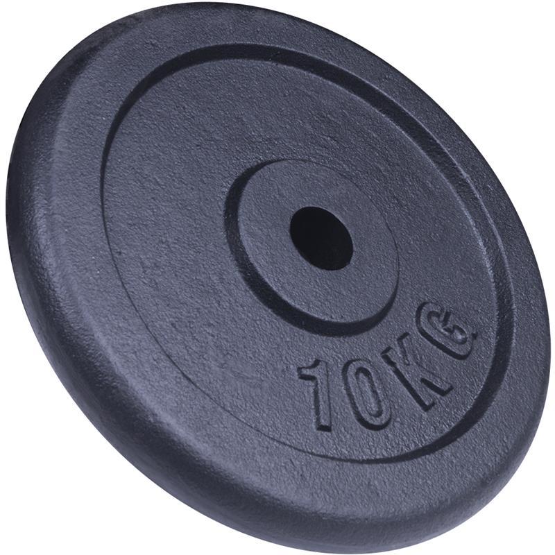 10 kg Hantelscheibe Gusseisen ohne Logo