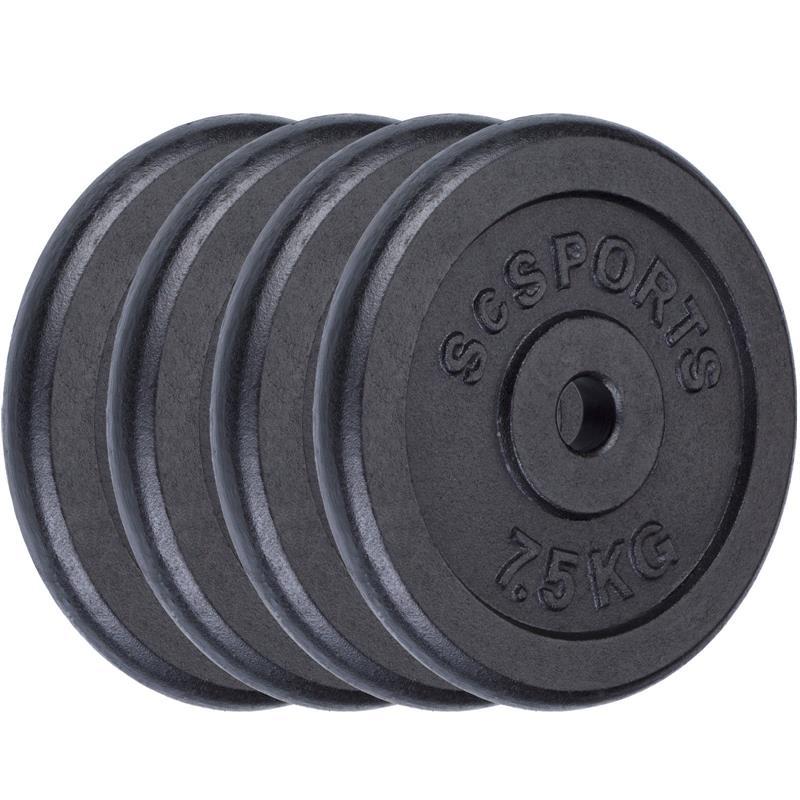 30 kg Scheibenset 4 x 7,5 kg Gusseisen