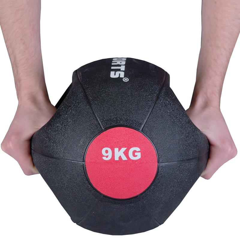 Medizinball mit Griffen 9 kg