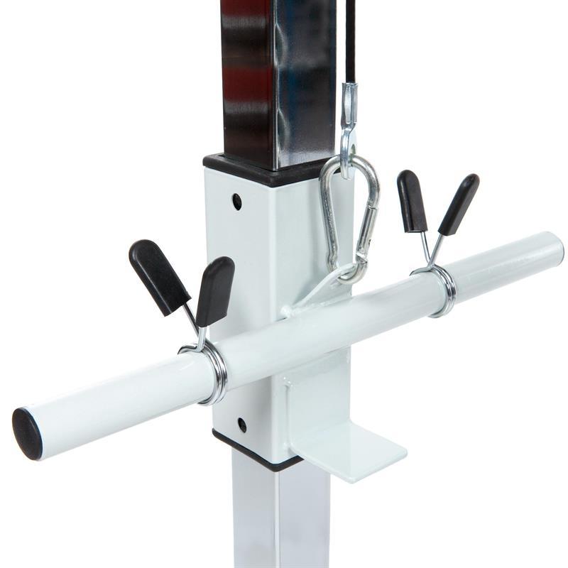 Latzugturm mit 30 kg Hantelscheibenset Kunststoff
