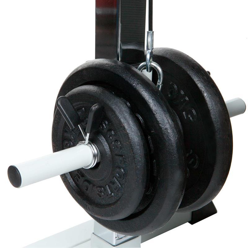 Latzugturm mit 47,5 kg Hantelscheiben Guss