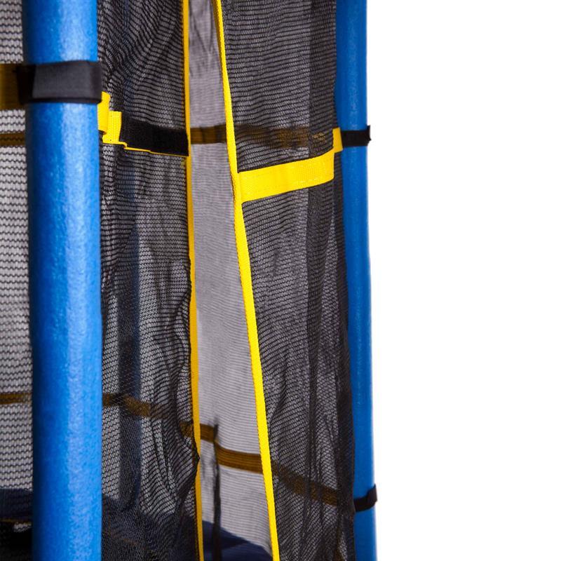 Trampolin mit Netz Gartentrampolin Kindertrampolin Ø 140 cm blau/gelb