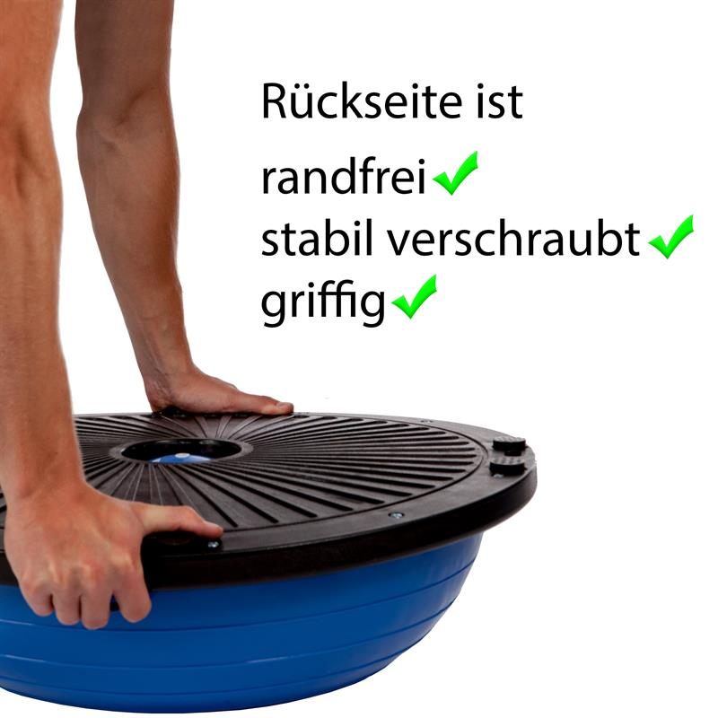 Balance Trainer Ball Ø 60 cm mit Fitnessbändern und Pumpe blau/schwarz