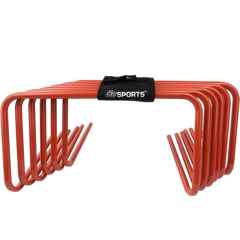 Trainingshürden 6er Set 30 cm rot mit Trageschlaufe