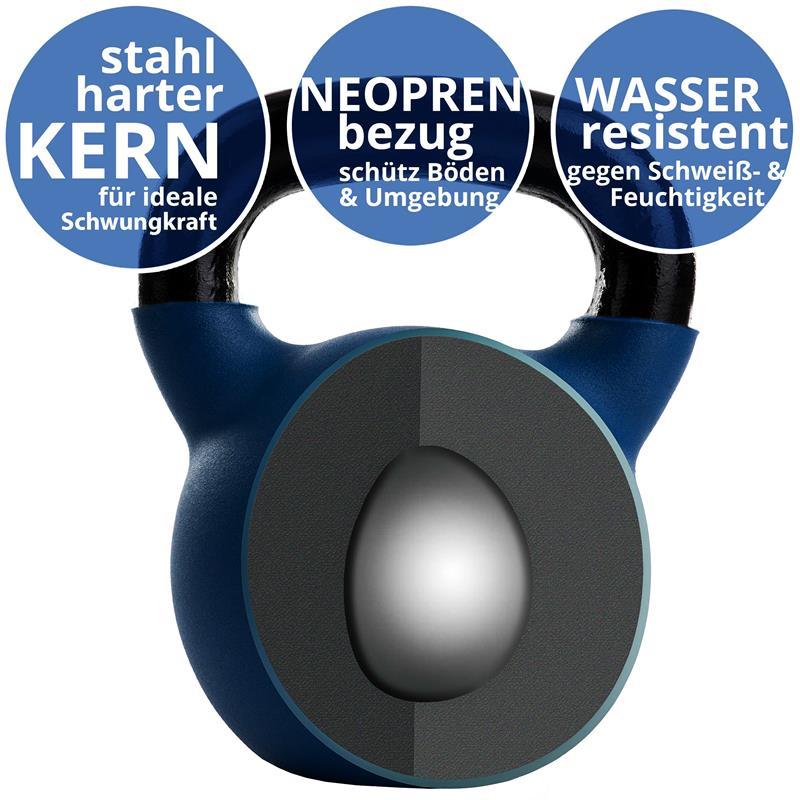 Kettlebell aus Gusseisen mit Neopren-Überzug 26 kg