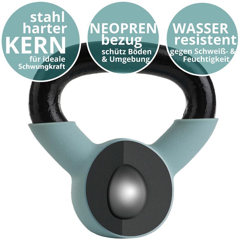 Kettlebell aus Gusseisen mit Neopren-Überzug 3 kg