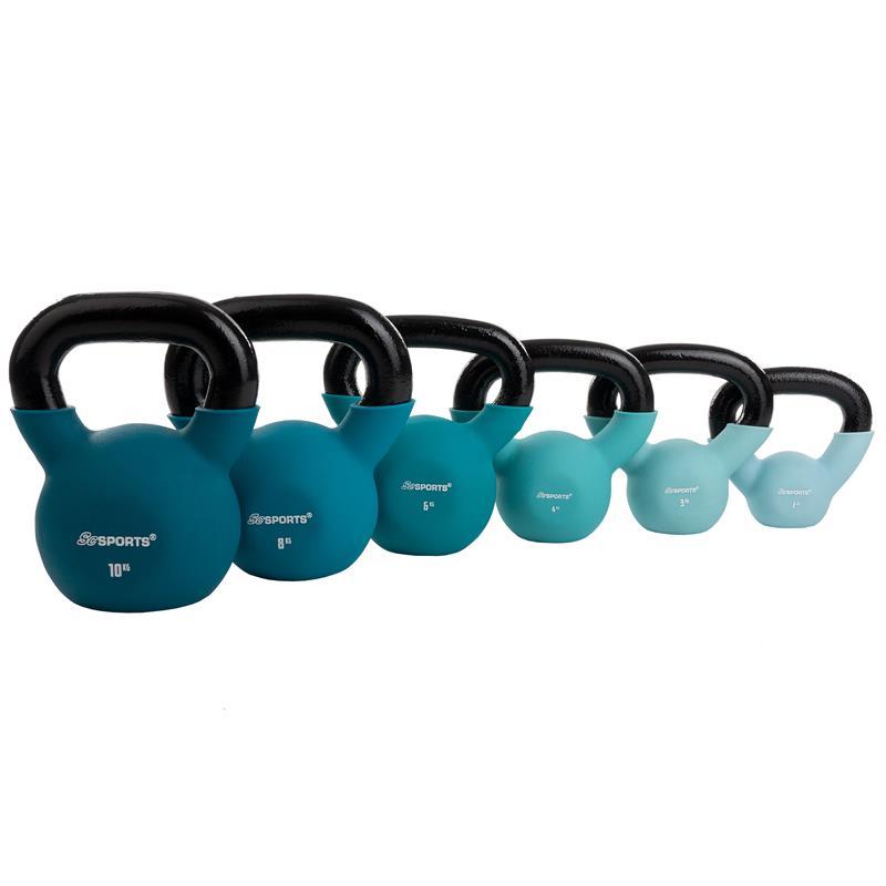 Kettlebell aus Gusseisen mit Neopren-Überzug 2 kg – 30 kg