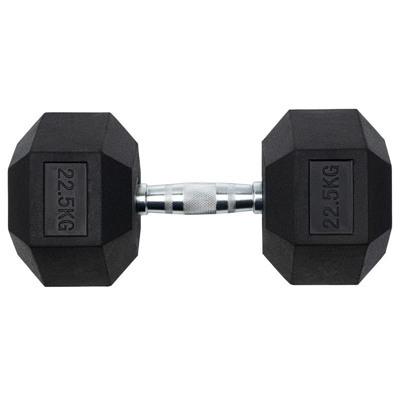 22,5 kg Kurzhantel mit festen Hexagon Gewichten