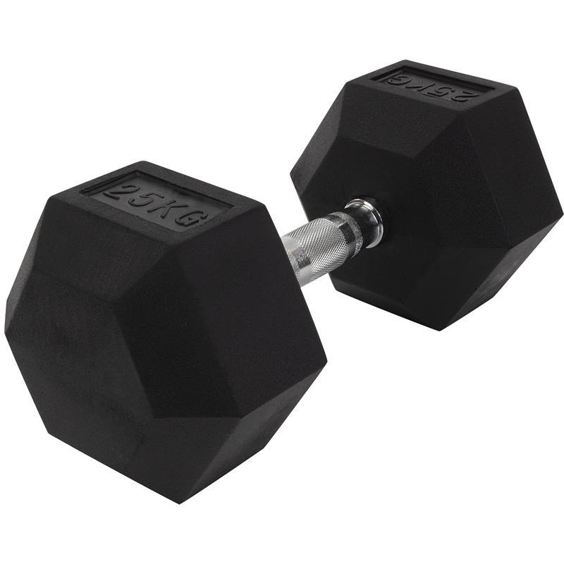 25 kg Kurzhantel mit festen Hexagon Gewichten