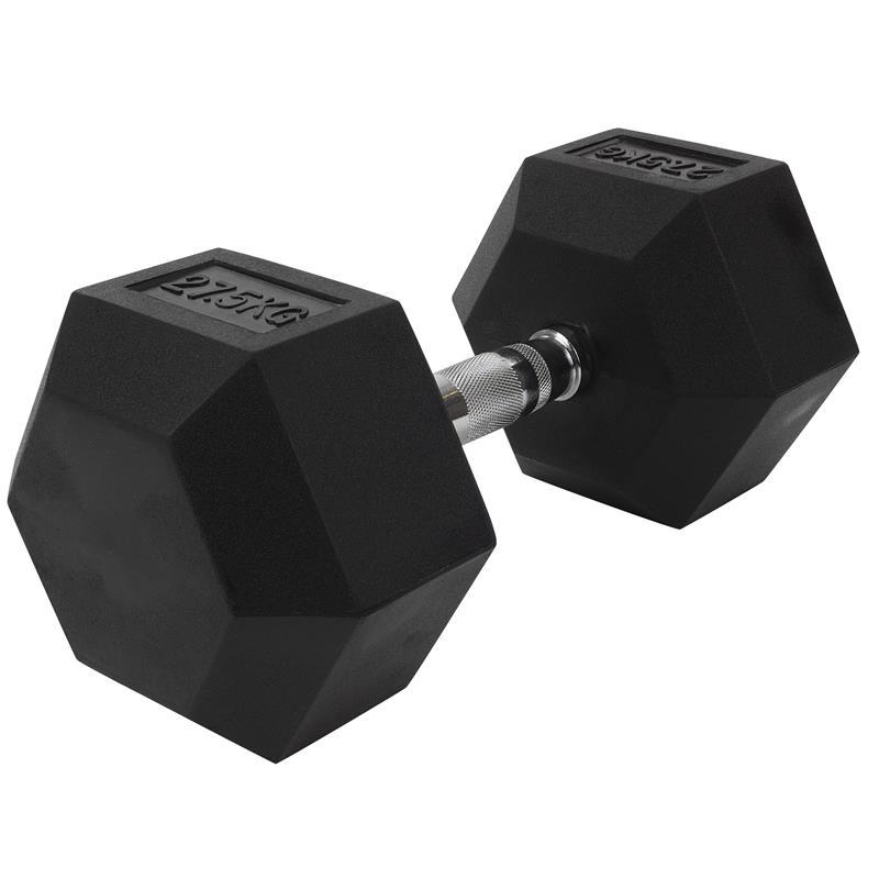 27,5 kg Kurzhantel mit festen Hexagon Gewichten
