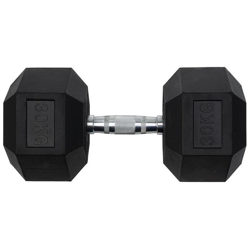 30 kg Kurzhantel mit festen Hexagon Gewichten