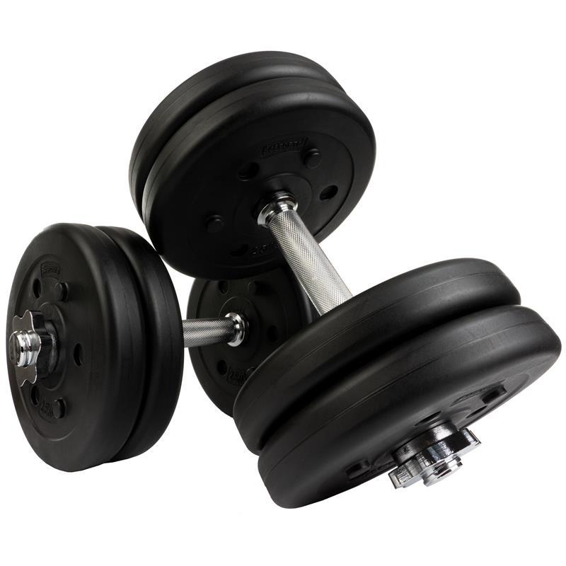25 kg Kurzhantelset Kunststoff mit 8x2,5 und 4x1,25 kg