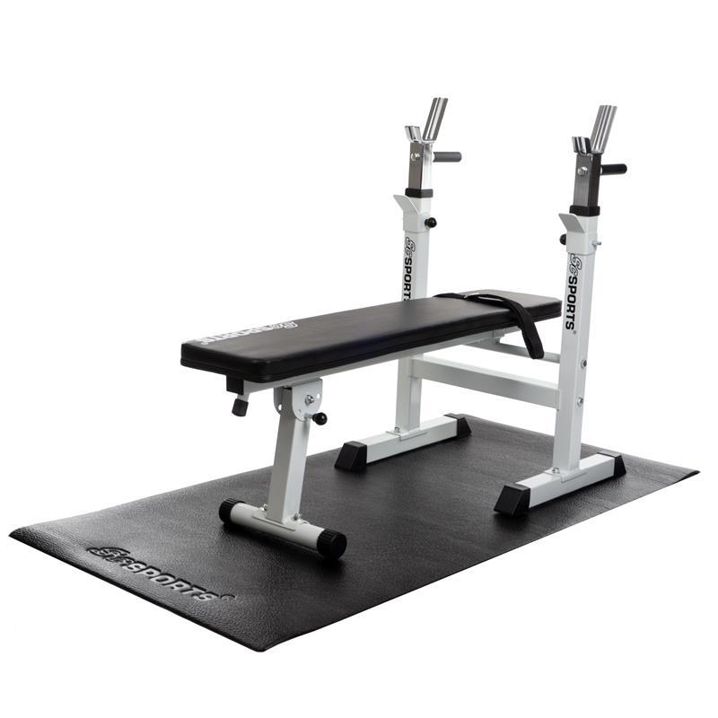Bodenschutzmatte Unterlegmatte für Fitnessgeräte 150x65x0,4 cm