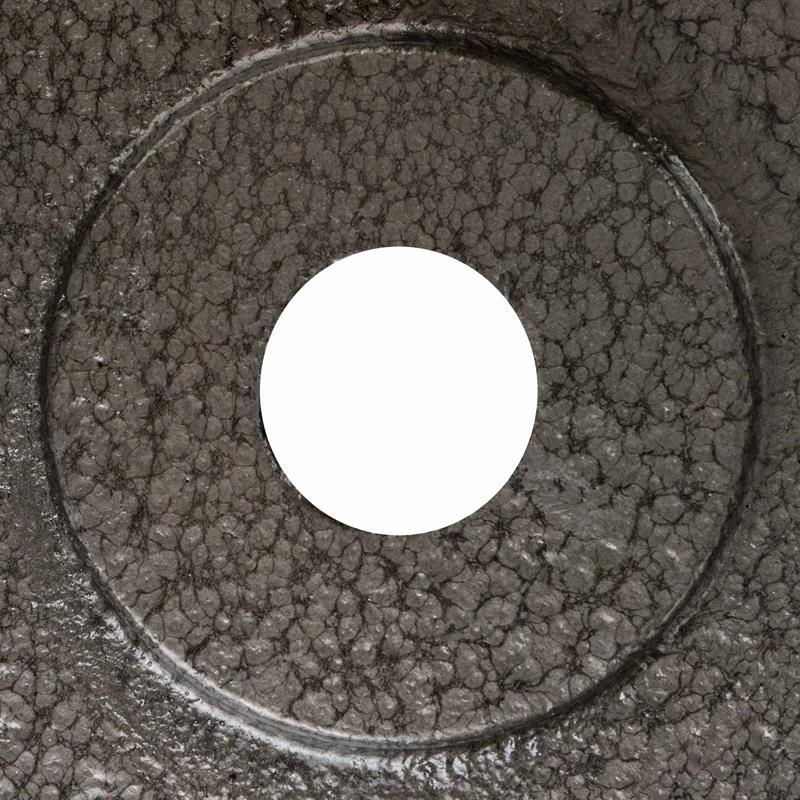 Hantelscheiben mit Griffen Gusseisen Hammerschlag 30 mm Grau