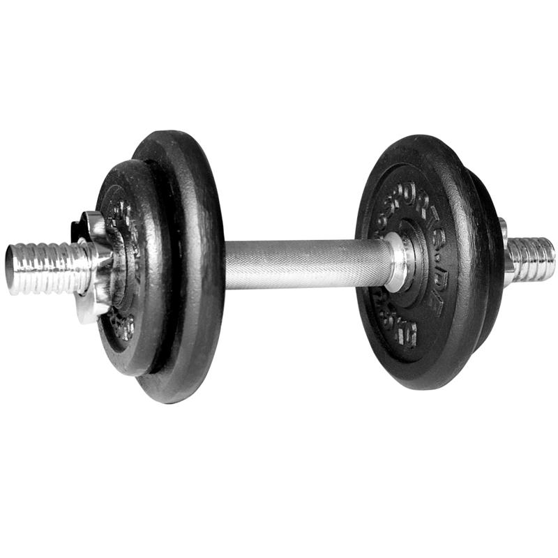 10 kg Kurzhantelset Gusseisen 2x1,25 2x2,5 kg mit Gewinde