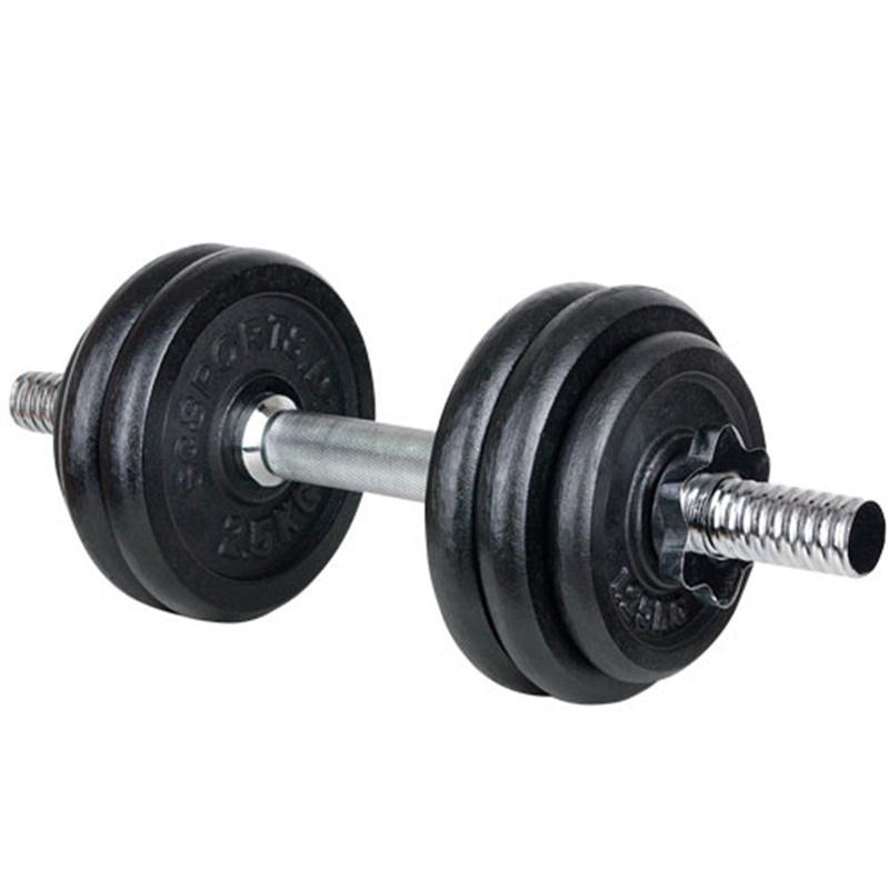 15 kg Hantelset, Kurzhantel, 2 x 1,25 kg, 4 x 2,5 kg Guss