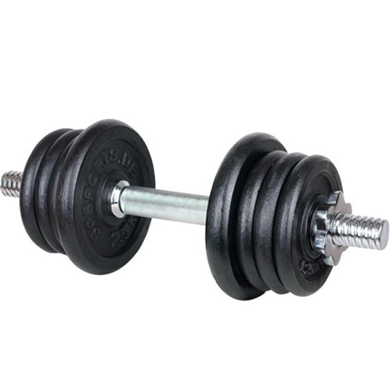 15 kg Hantelset, Kurzhantel, 6 x 1,25 kg, 2 x 2,5 kg Gusseisen
