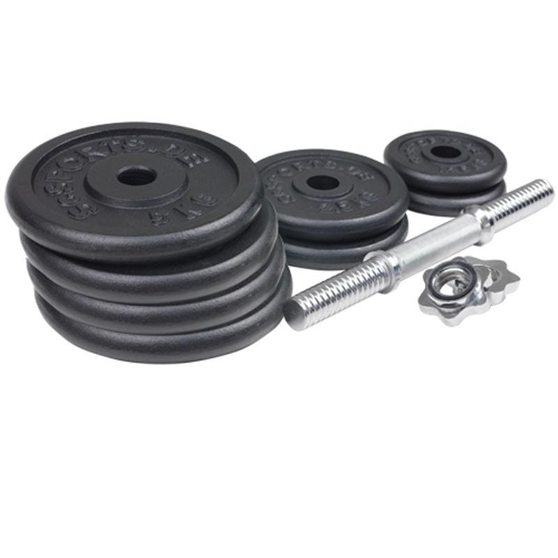 30 kg Kurzhantelset Gusseisen 2x1,25 2x2,5 4x5 kg