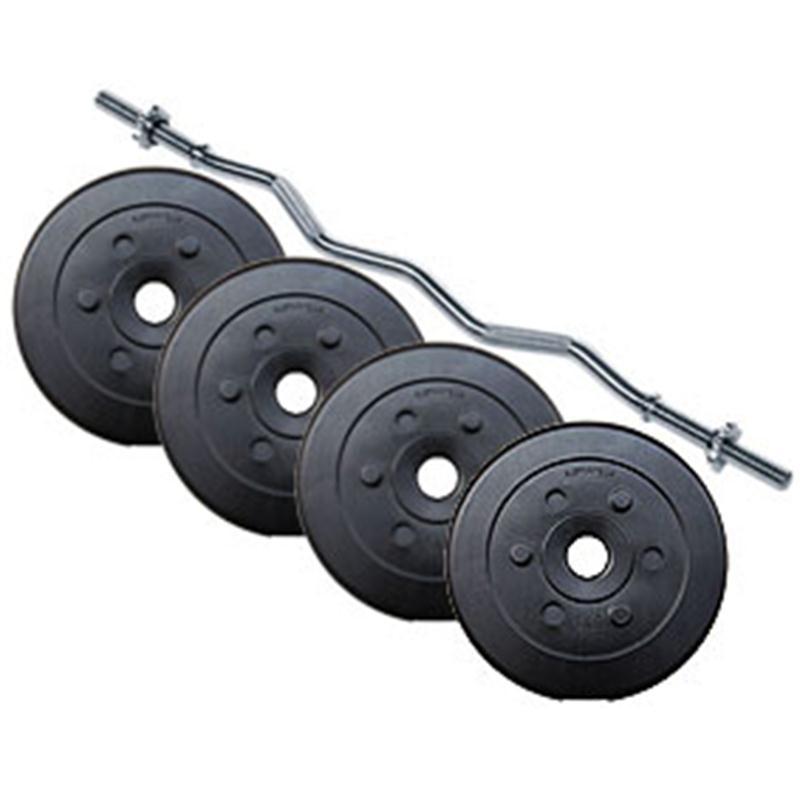 27 kg Curlhantelset Kunststoff 4x5 kg