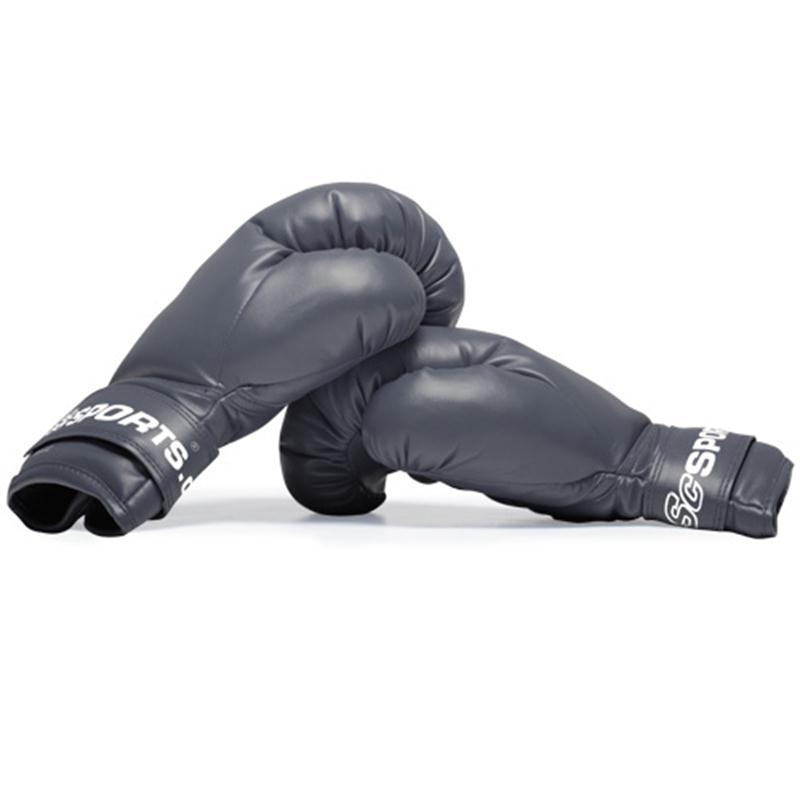 Boxhandschuhe Kunstleder schwarz 12 oz