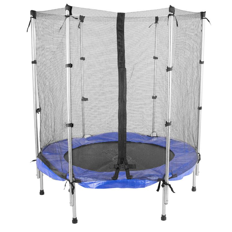 trampolin mit netz kindertrampolin 140 cm g nstig bei scsports. Black Bedroom Furniture Sets. Home Design Ideas