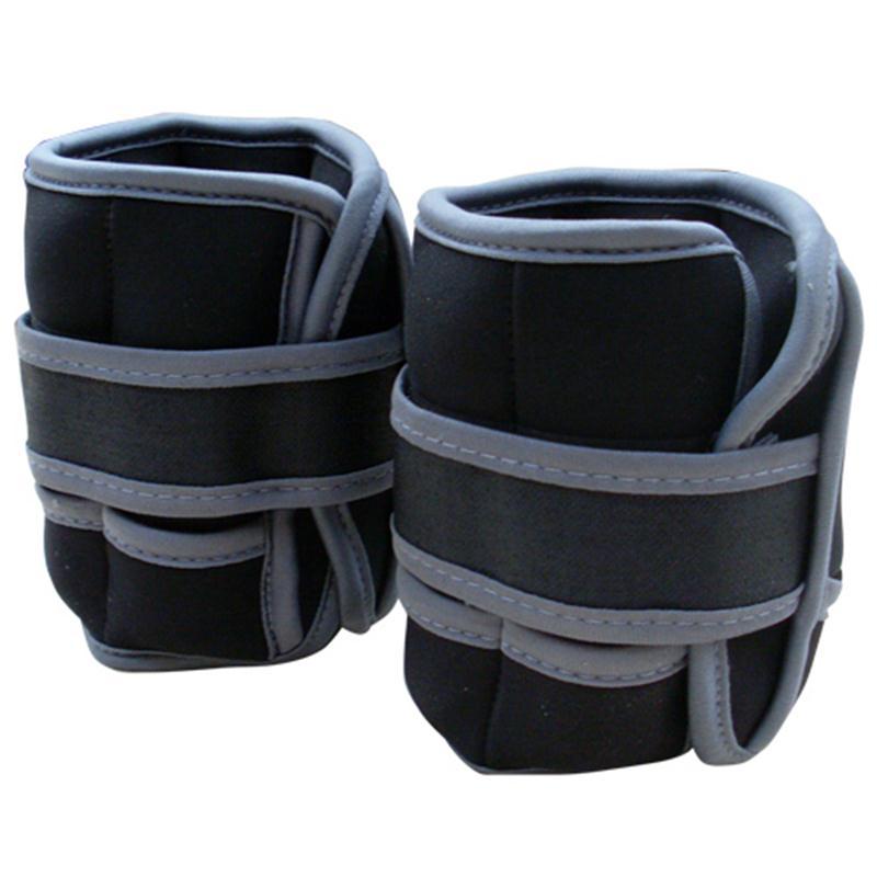 Gewichtsmanschetten 2 x 2 kg schwarz