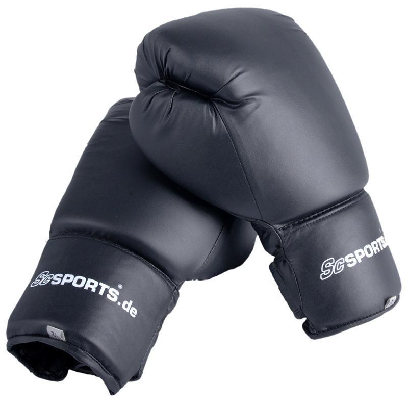 Boxhandschuhe Kunstleder schwarz 14 oz