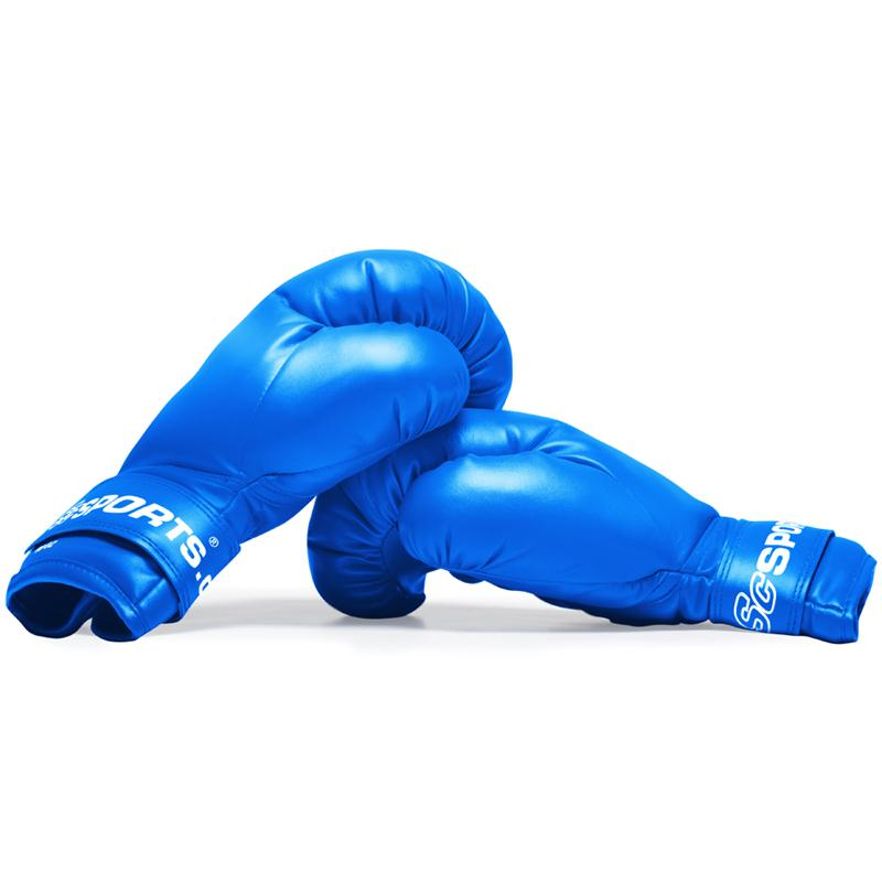 Boxhandschuhe Kunststoff blau 10 oz