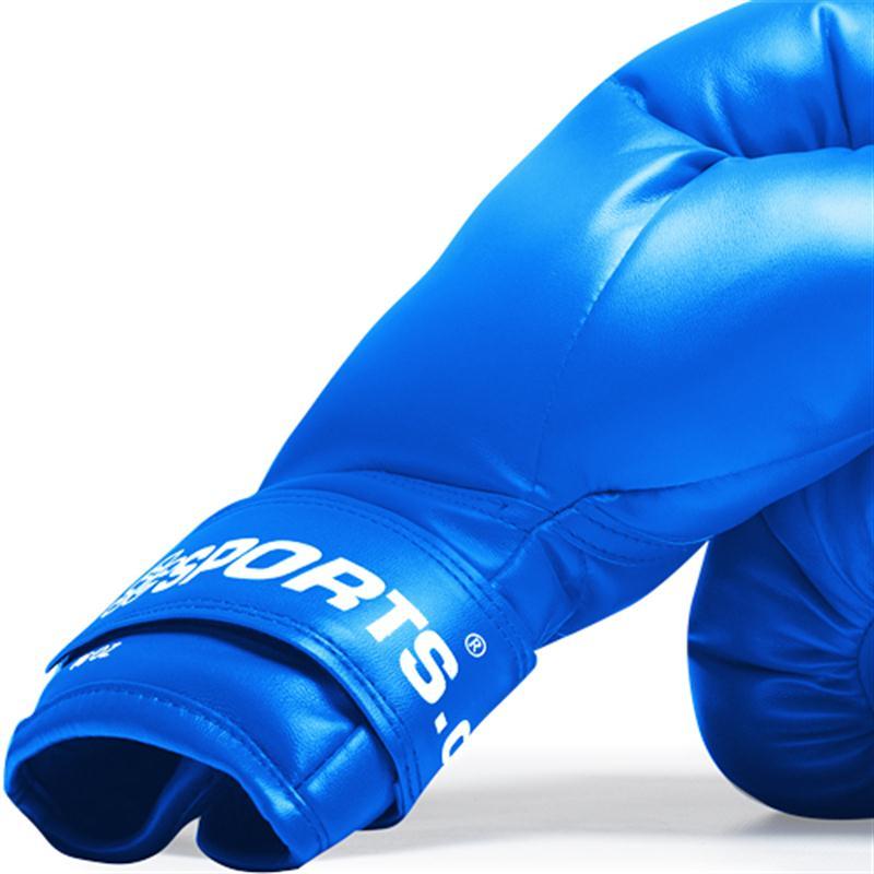 Boxhandschuhe Kunststoff blau 16 oz