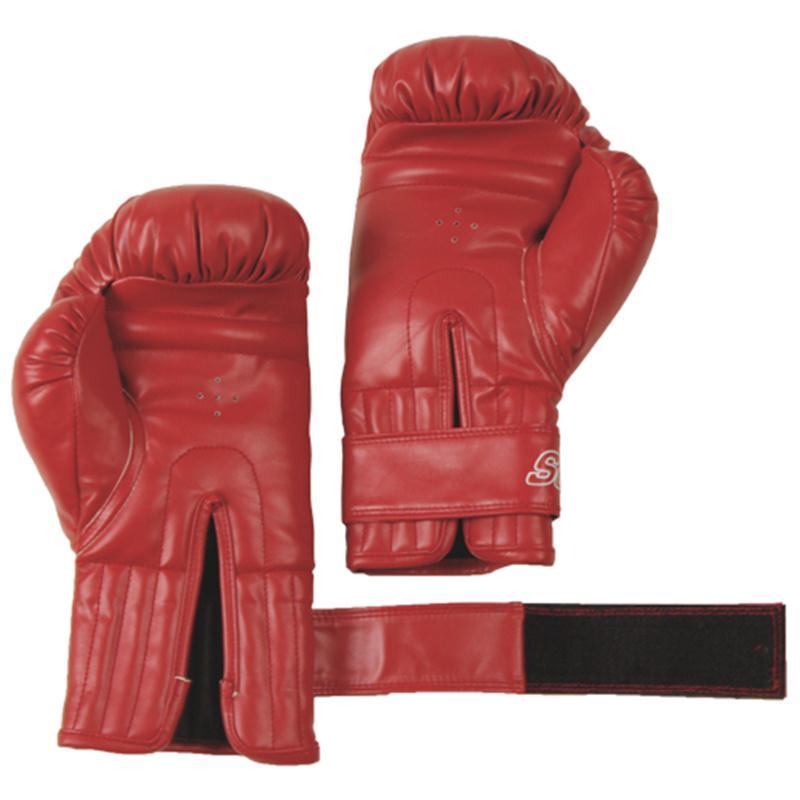 Boxhandschuhe Kunststoff rot 16 oz