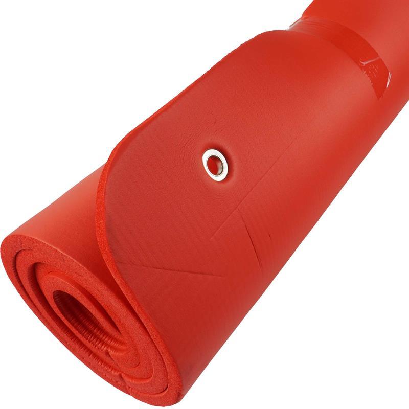 Gymnastikmatte Fitnessmatte mit Ösen rot 185 x 80 x 1,5 cm B-Ware