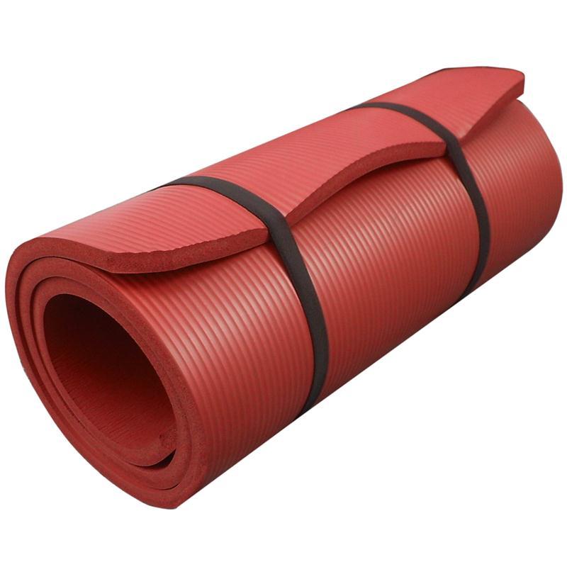 Gymnastikmatte Sportmatte 190 x 80 x 1,5 cm rot