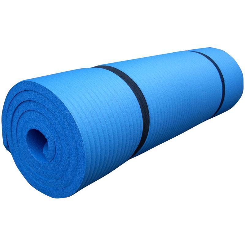 Gymnastikmatte Sportmatte 190 x 80 x 1,5 cm hellblau