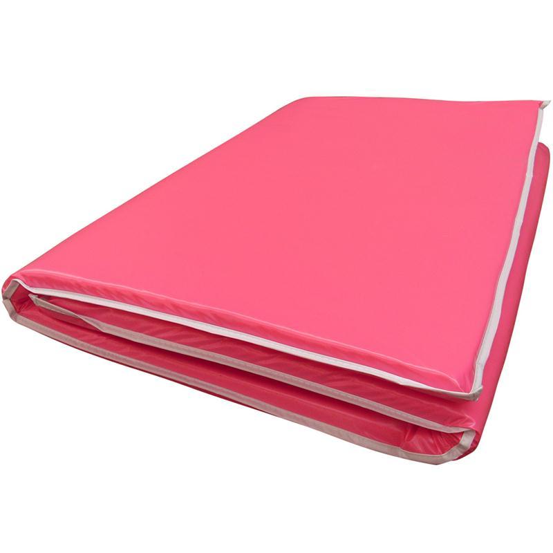 Gymnastikmatte Sportmatte faltbar 120 x 63 x 1 cm pink
