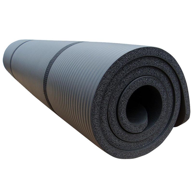 Gymnastikmatte Sportmatte 190 x 100 x 1,5 cm schwarz