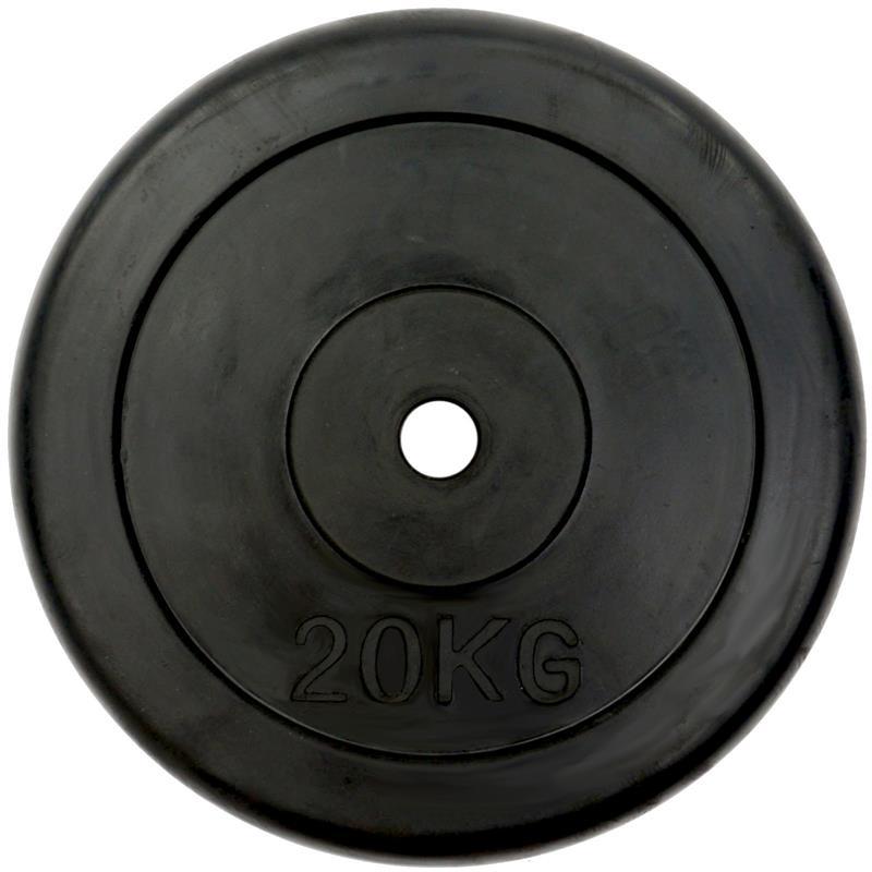 1 x 20 kg Hantelscheibe Gummi Ø 30 mm