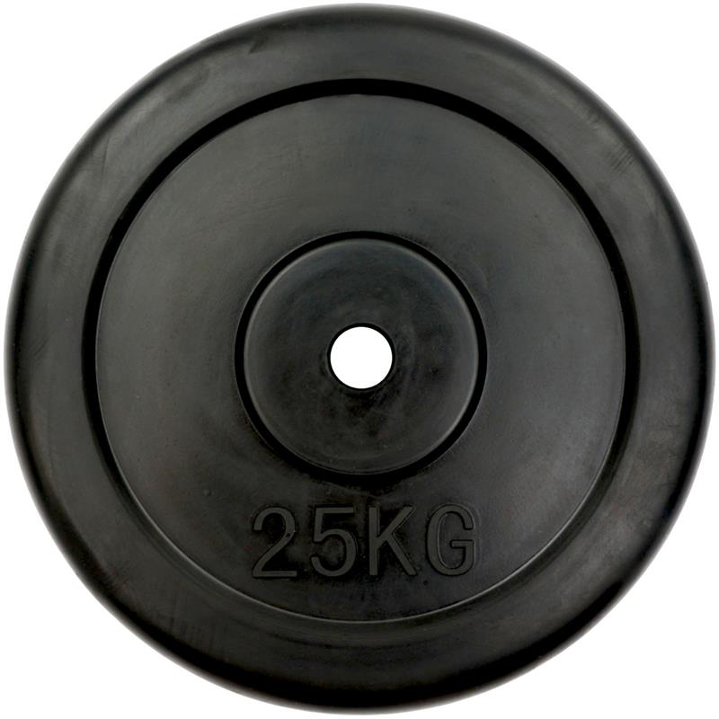 1 x 25 kg Hantelscheibe Gummi Ø 30 mm