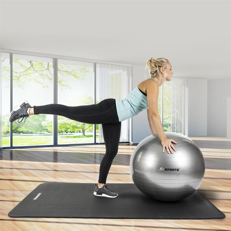Gymnastikball Sitzball 55 cm grau
