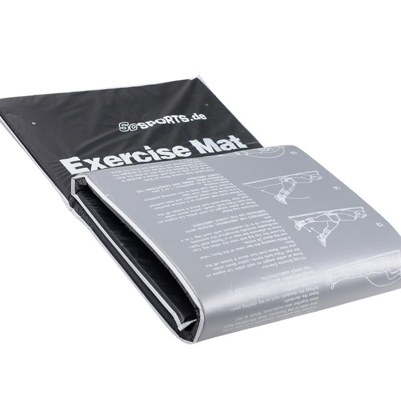 Gymnastikmatte Sportmatte faltbar 180 x 60 x 2 cm grau/schwarz