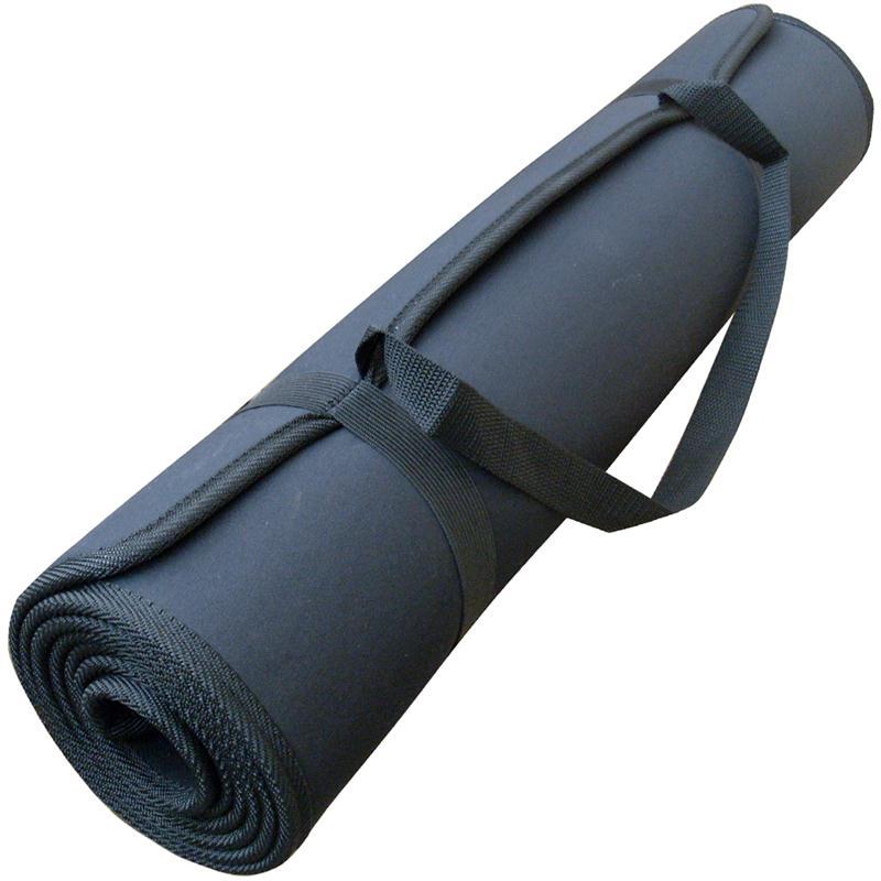 Yogamatte mit Tragegurt 180 x 60 x 0,6 cm schwarz
