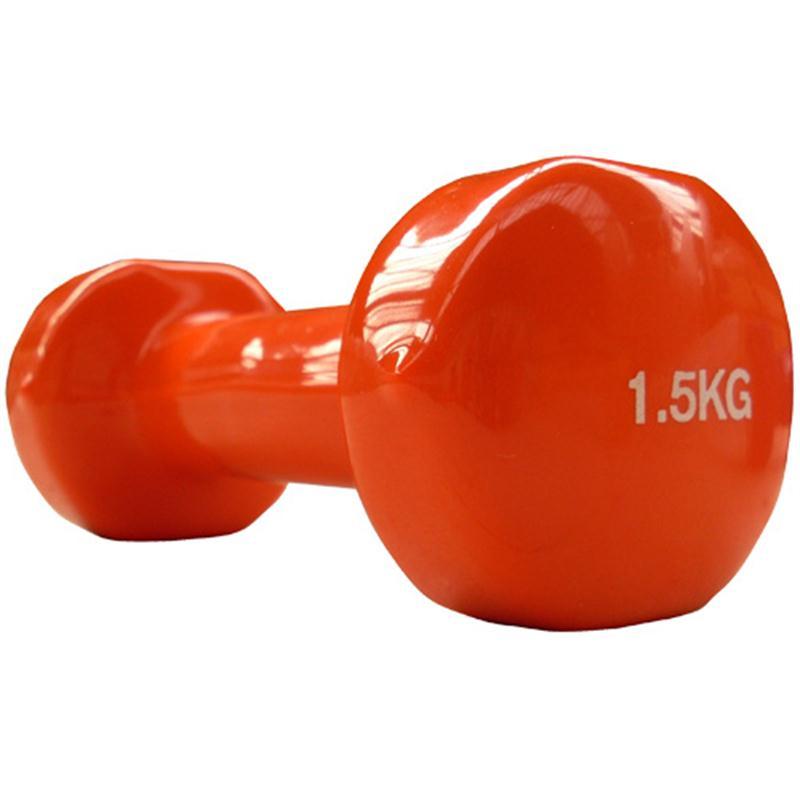 Vinyl-Hantel 1,5 kg orange