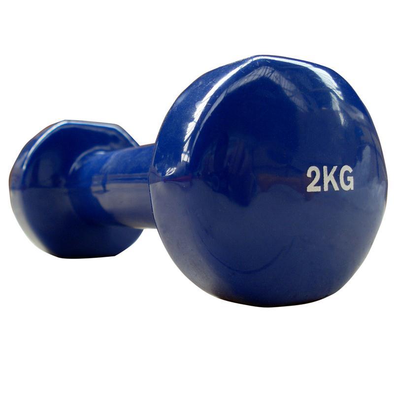 Vinyl-Hantel 2 kg blau
