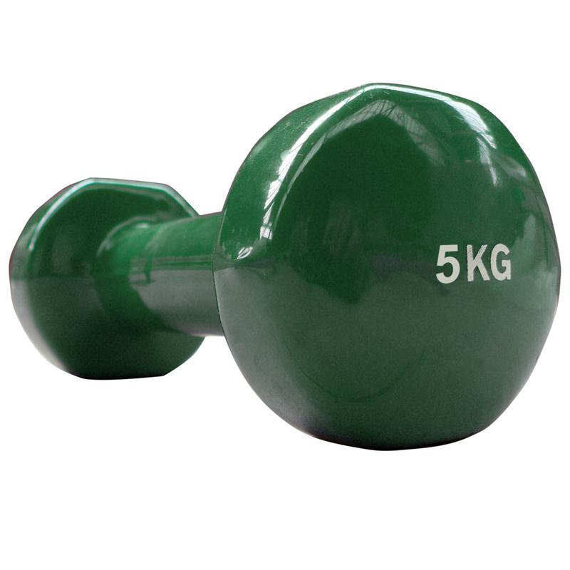 Vinyl-Hantel 5 kg grün