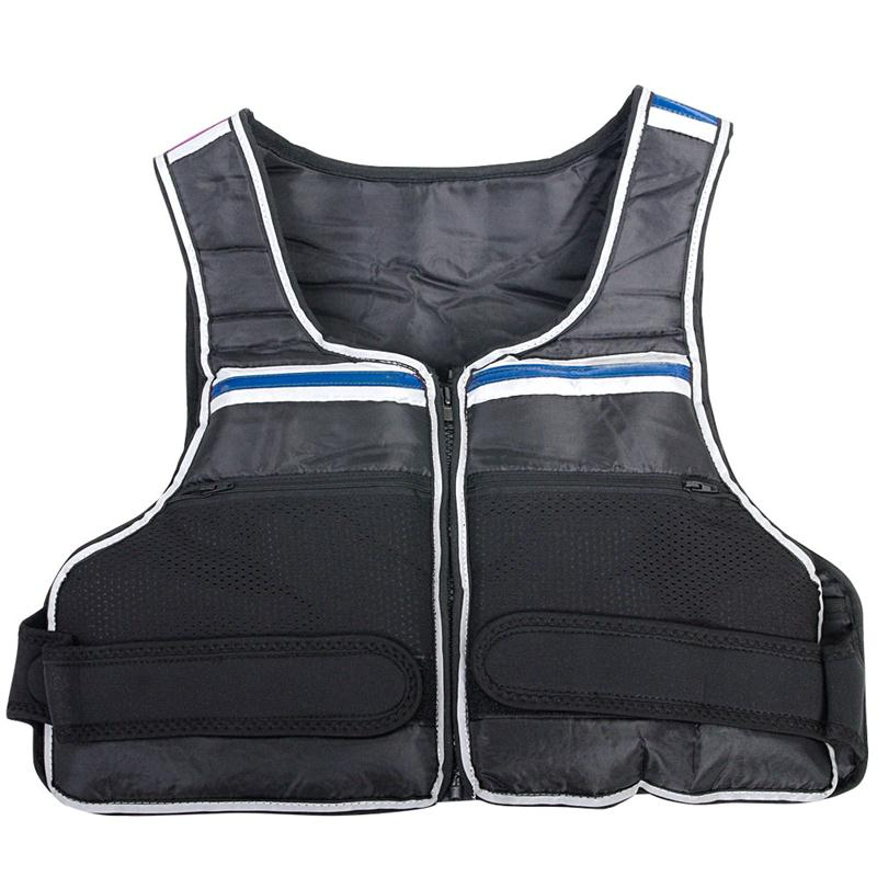 Gewichtsweste 10 kg mit blauen Streifen