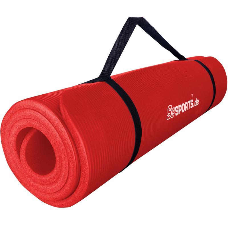 Gymnastikmatte Sportmatte 190 x 60 x 1,5 cm rot