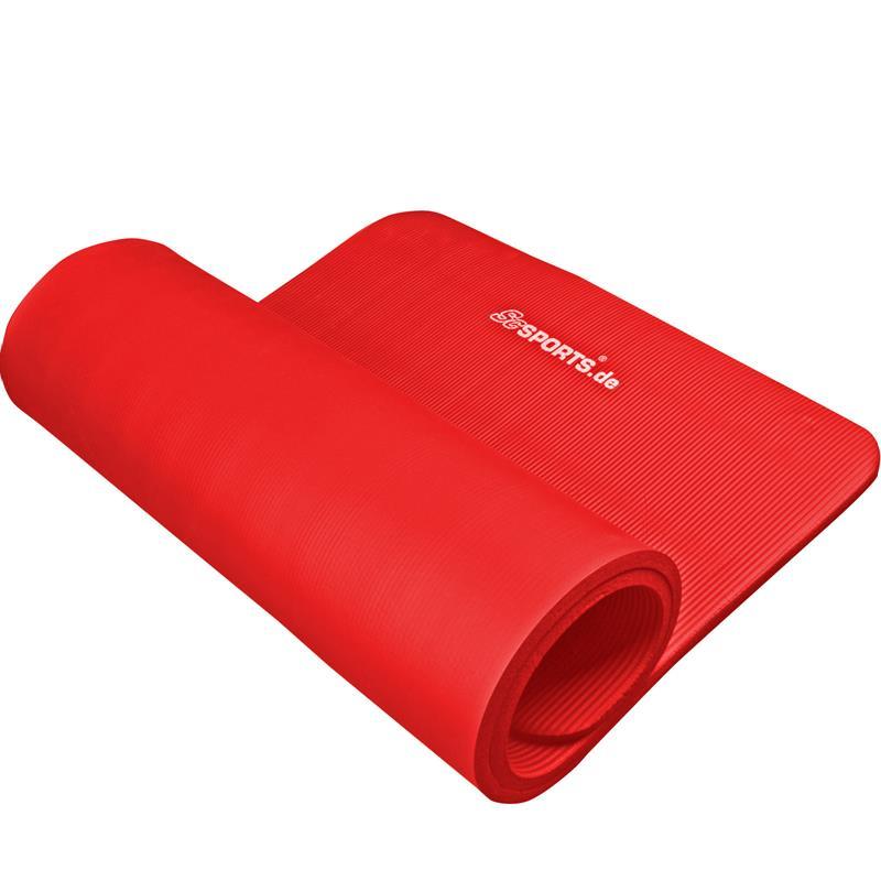 Fitnessmat Sportmat 190 x 80 x 1,5 cm rood