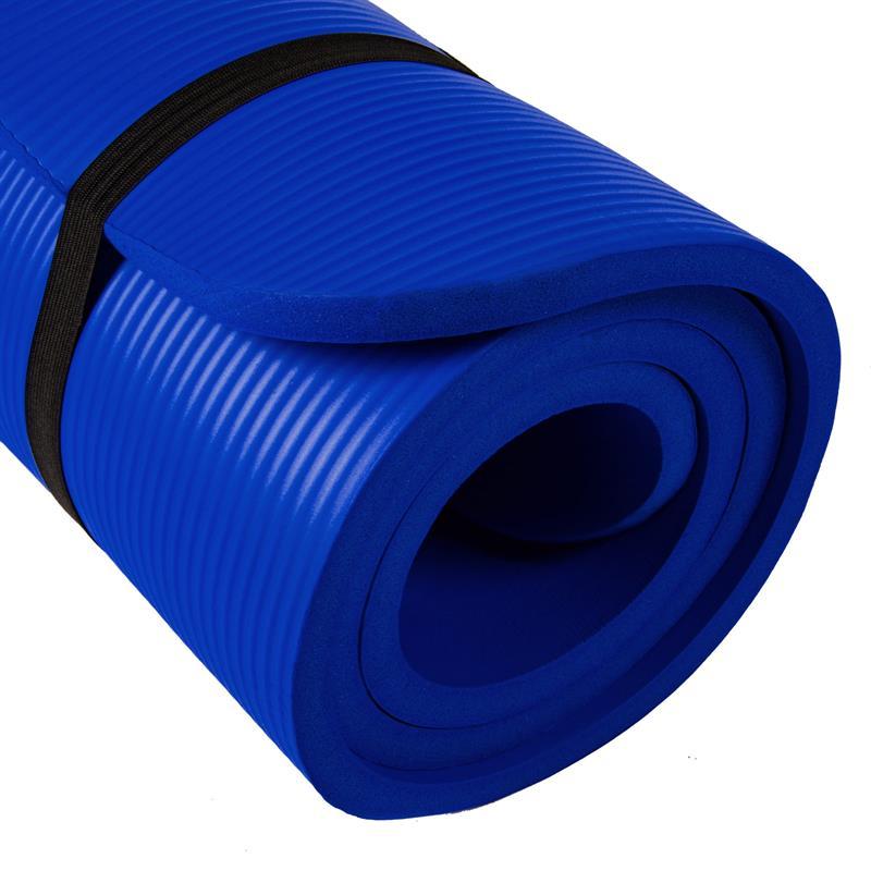 Gymnastiekmat Sportmat 190 x 80 x 1,5 cm donkerblauw